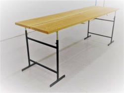 Tide bordsben med bordsskiva i ek